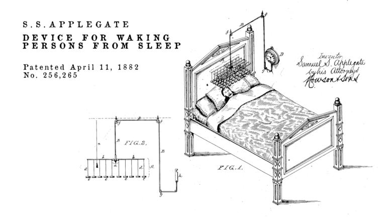 Brevetti bizzarri de Dominicis & mayer brevetti strani, sveglia per svegliare la gente
